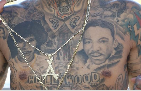 Kid Ink Chest Tattoos