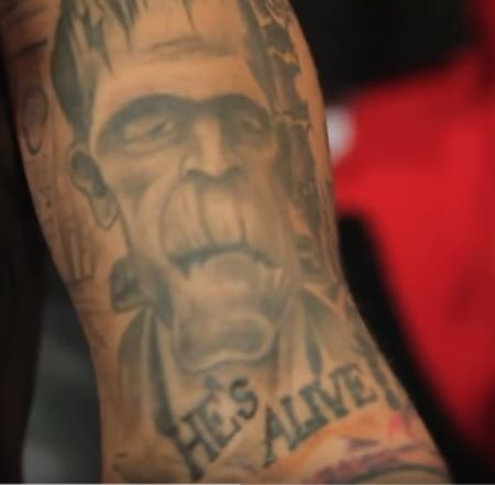 Kid Ink Frankenstein Tattoo