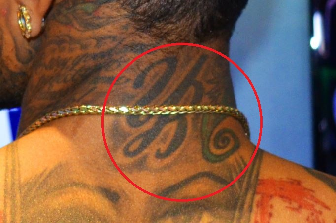 Kid Ink Neck Tattoo