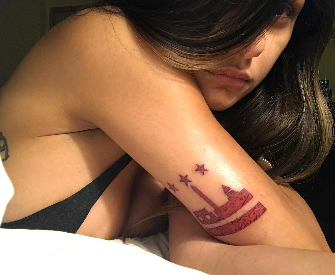Mia Khalifa Castle Tattoo