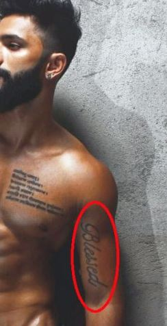 Prathamesh maulingkar blessed tattoo