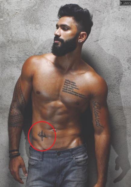 Prathamesh maulingkar trident tattoo