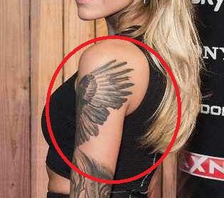 Sophia Angel Wings Tattoo