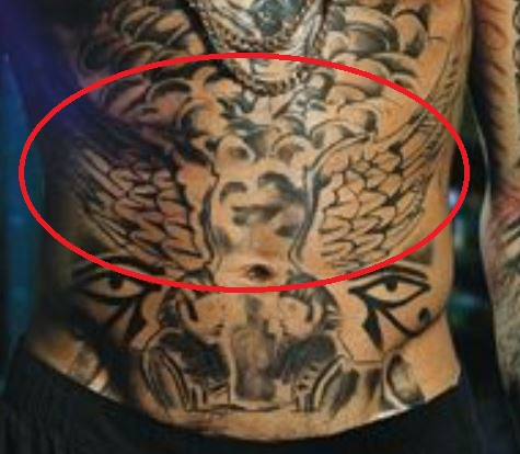 Tyga ANgel Wings Tattoo