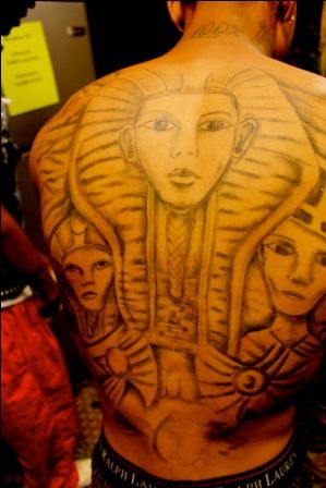 Tyga Back Tattoo