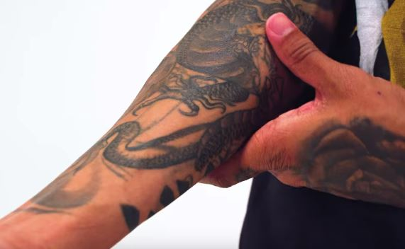 Tyga Dragon Tattoo