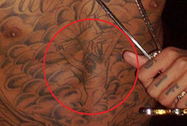 Tyga Jesus Crucifixion Tattoo