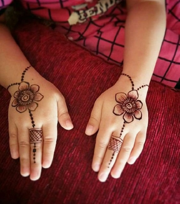 mehendi design easy for kids