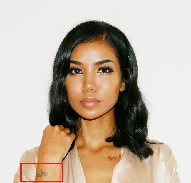jhene aiko-unidentified symbol tattoo