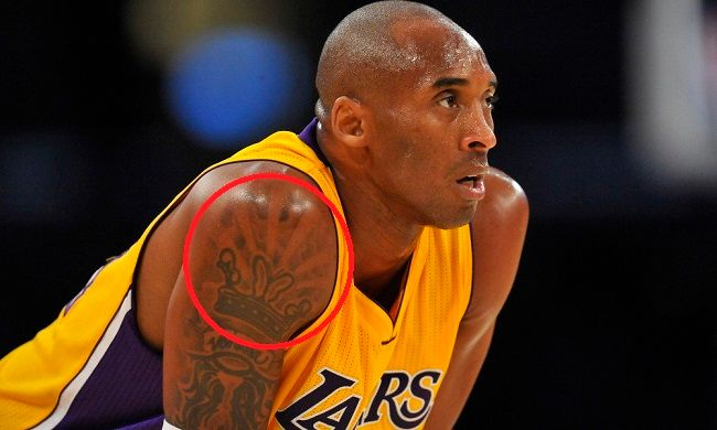 kobe bryant-butterfly crown tattoo