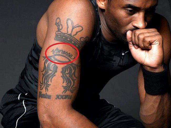 kobe bryant-vanessa tattoo