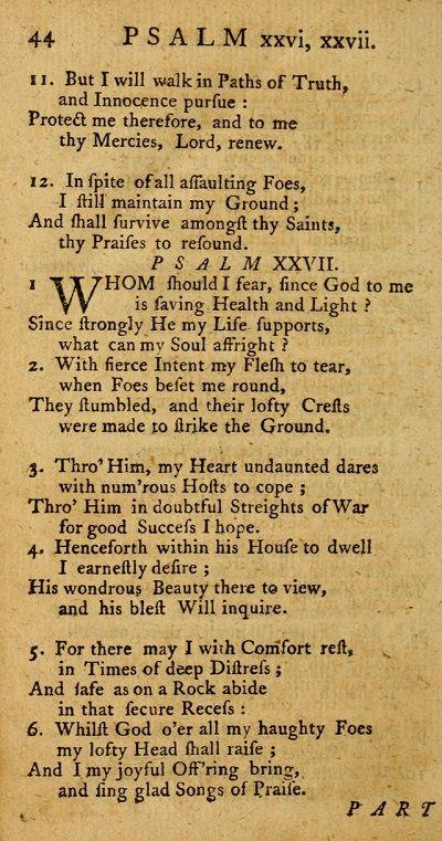 psalm XXVII-part one