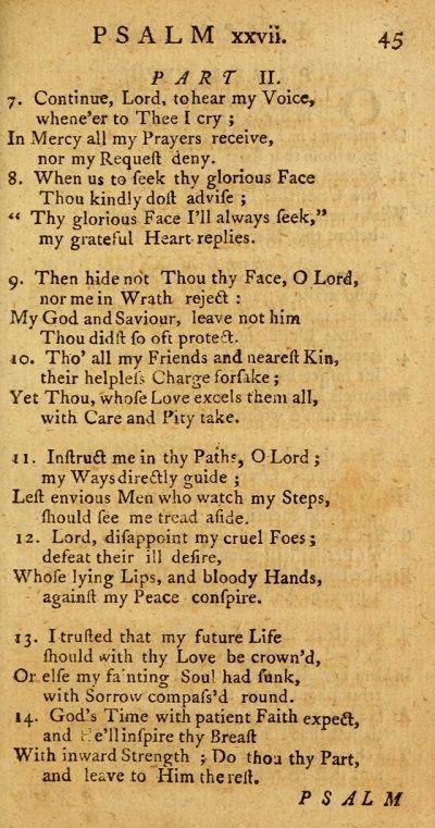 psalm XXVII-part 2