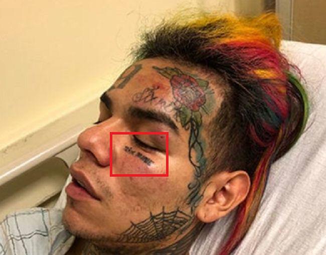 6ix9ine-face tattoo