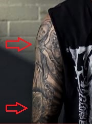 Chippa Wilson angel rose tattoo