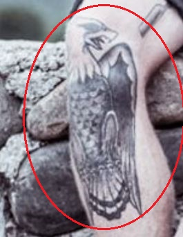 Chippa Wilson eagle tattoo