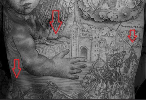 Chippa Wilson stomach tattoo