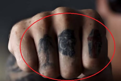 Chippa Wilson tree panther shield tattoo