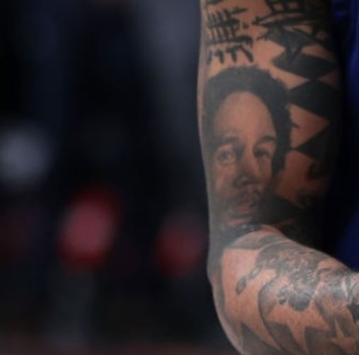 D Angelo Portrait on Right Arm