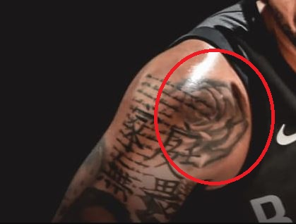 D Angelo Rose Tattoo
