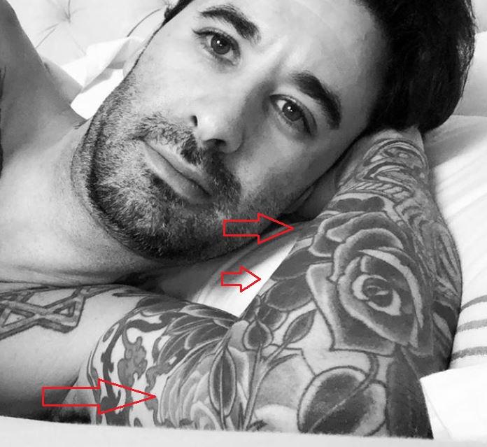 Daniel Weber rose tattoo