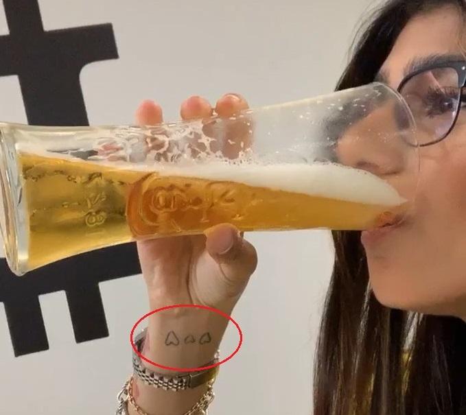Mia Khalifa wrist Tattoo