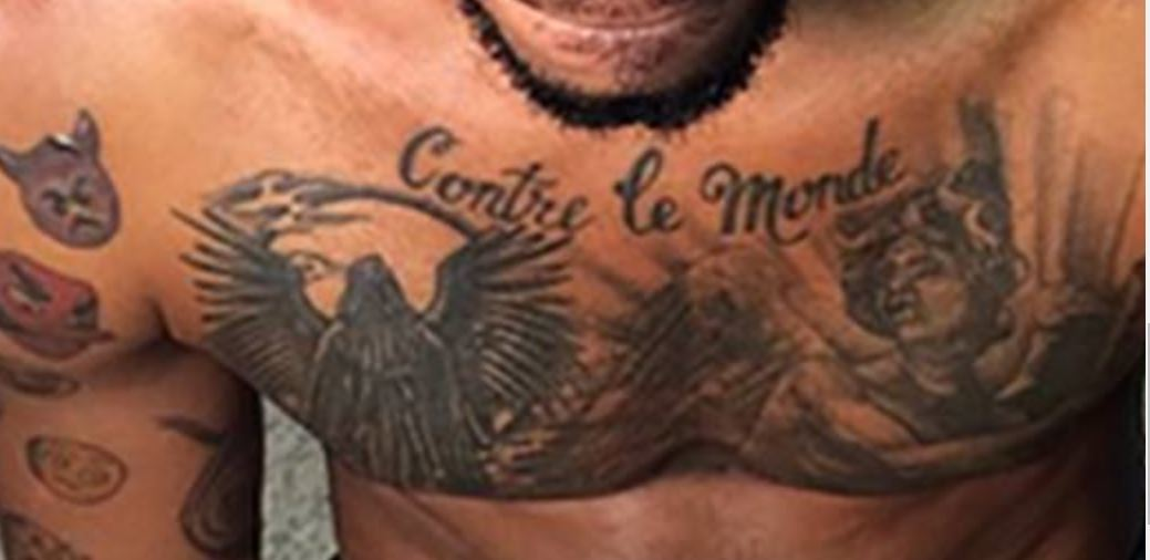 Mike Scott Chest Tattoo