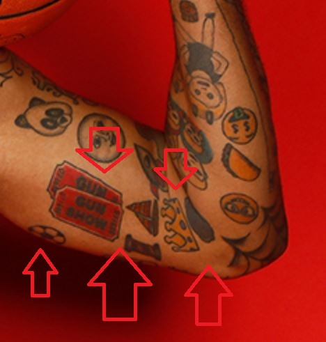 Mike Scott Left Inner Arm Emojis
