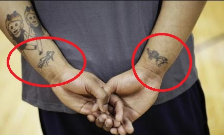 Mike Scott Wrist Tattoos