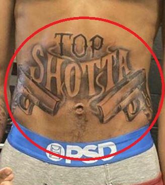 NLE Choppa top shotta tattoo