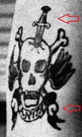 Nick Cave skull tattoo 1