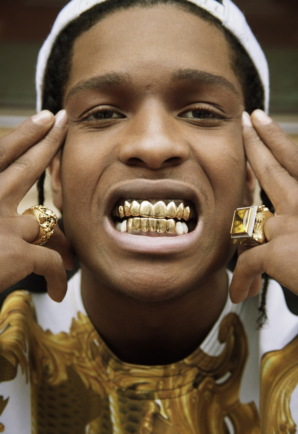 gold grills