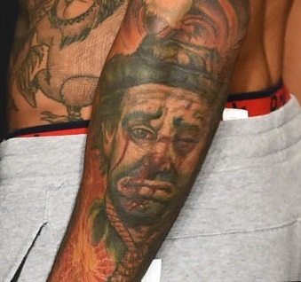 Andre filli Forearm Portrait tattoo