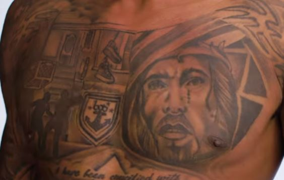 Bradley Chest Tattoo