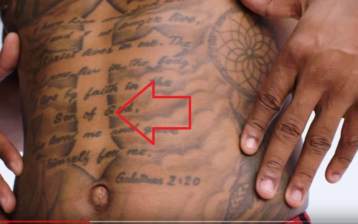 Bradley Stomach Tattoo