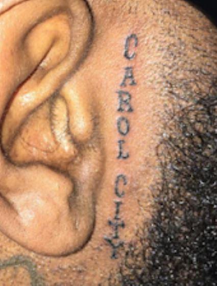 CAROL CITY on Face Tattoo