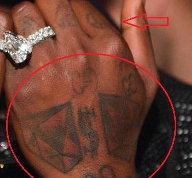 Gucci Mane diamond dollar tattoo
