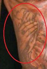 Gucci Mane hands tattoo