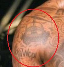 Gucci Mane helicopter tattoo