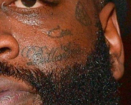 Rick Biliionaire on Face Tattoo