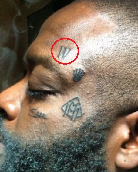 Rick Ross Left Pec Tattoo