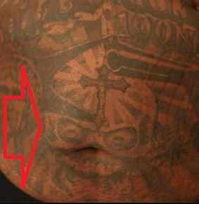 Rick Ross Skeleton in the center of the stomach