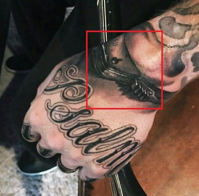 brantley gilbert-handcuffs tattoo