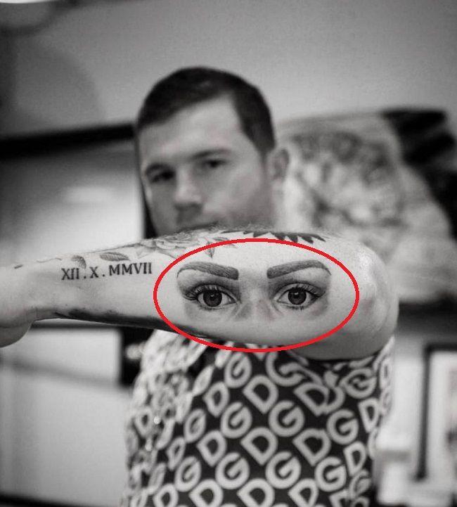 canelo alvarez-eyes tattoo
