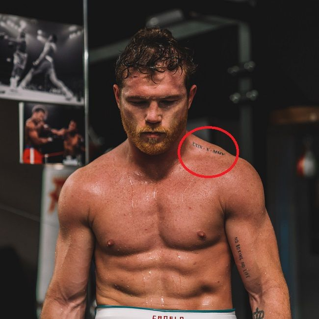 canelo-roman numbers tattoo