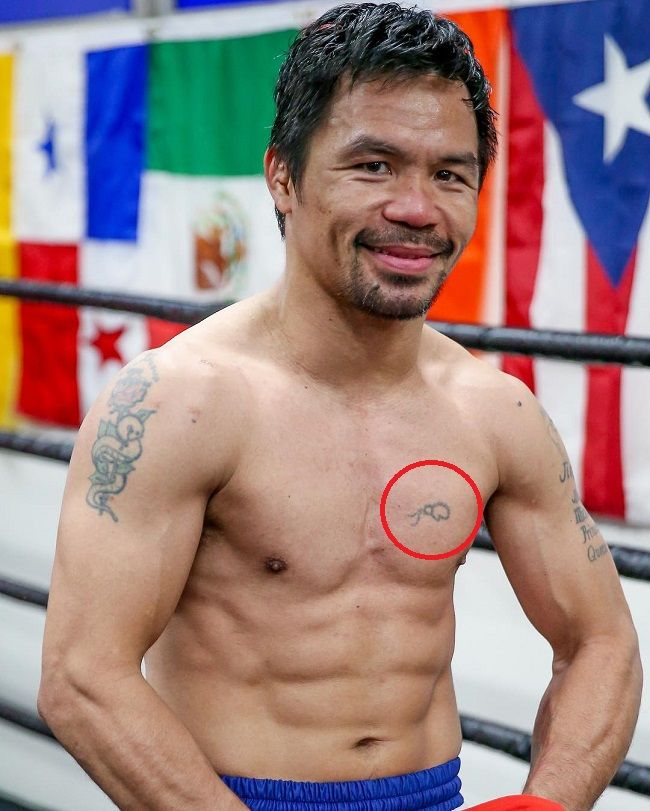 manny pacquiao-boxing glove tattoo