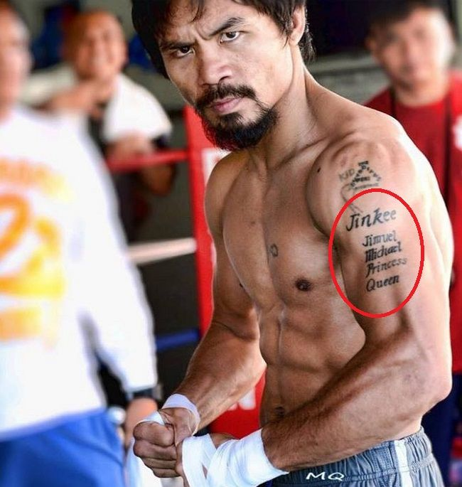 manny pacquiao-family tattoo