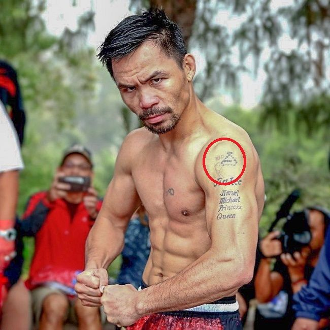 manny pacquiao-hand and gloves tattoo