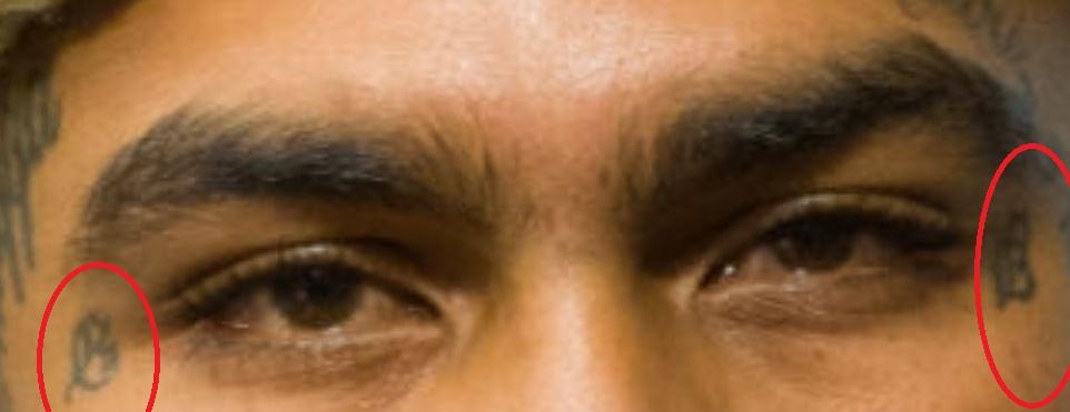 Dave Tattoos near eyes