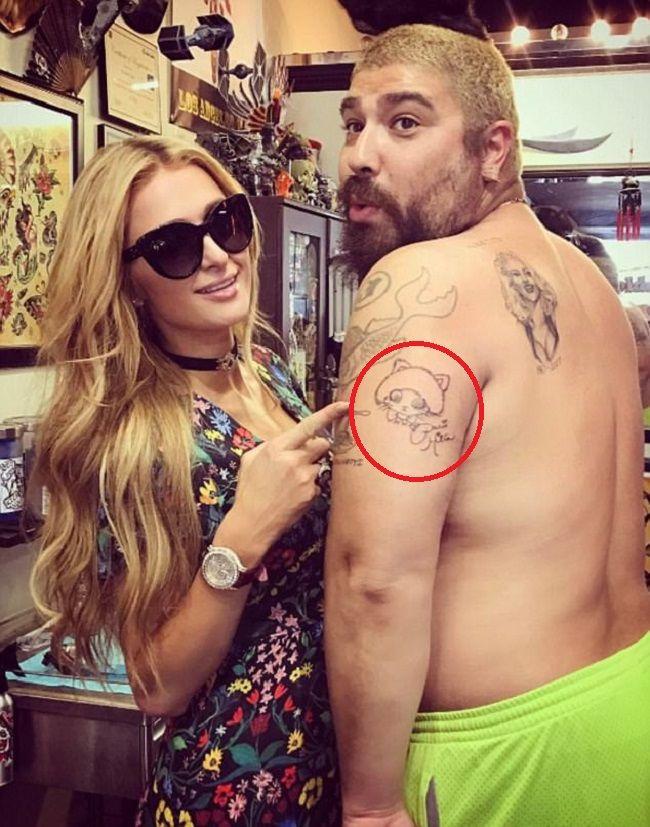 Joshua Ostrovsky-Kitty with Beanie Hat Tattoo-The Fat Jewish